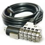 Трос безопасности для циф. тех. с 4х значным код. замком KS-is Seh (KS-009)