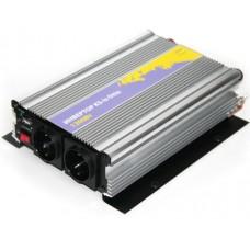 Инвертор (преобразователь питания 12->220В) от аккумулятора авто 1200Вт KS-is Otto (KS-052)
