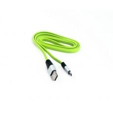 Кабель USB-microUSB KS-is (KS-298B-G) 1м, черный+зеленый