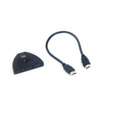 Купить разветвитель HDMI на 3 порта для проектора, монитора, телевизора KS-is (KS-340) с кнопкой переключения
