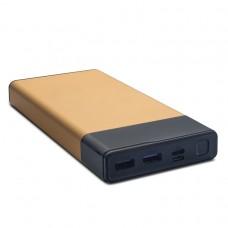 купить универсальную батарею power bank для телефона, планшета, консоли KS-is (KS-323 black/gold/silver) 40000мАч USB Type C PD