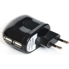 Зарядное устройство 2 порта USB от сети 220В KS-is KS-056
